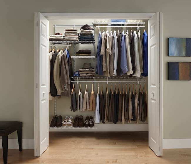 Adjustable closet kit - bedroom organization ideas