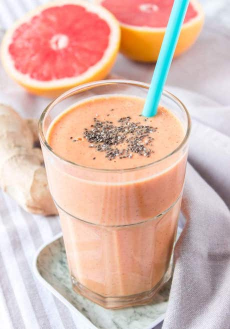 Grapefruit Citrus Ginger Smoothie - Weight Loss Smoothie Recipes