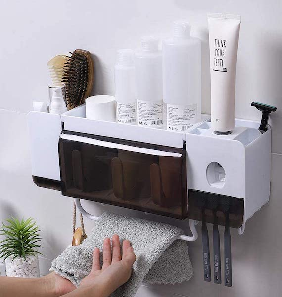 Multi-Functional Toothbrush Organizer - bathroom organization ideas