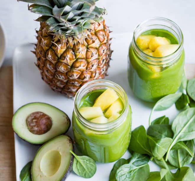 pineapple spinach smoothie - Weight Loss Smoothie Recipes