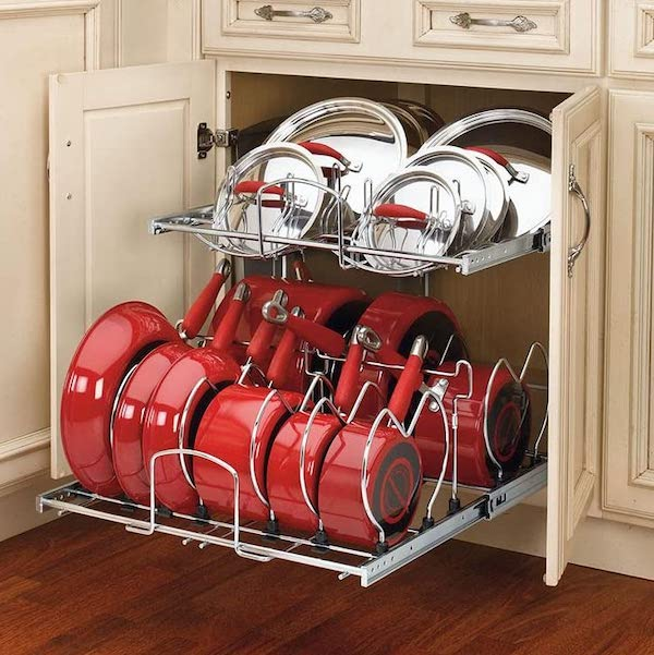 Pullout Organizer for Cookware - organize your kitchen