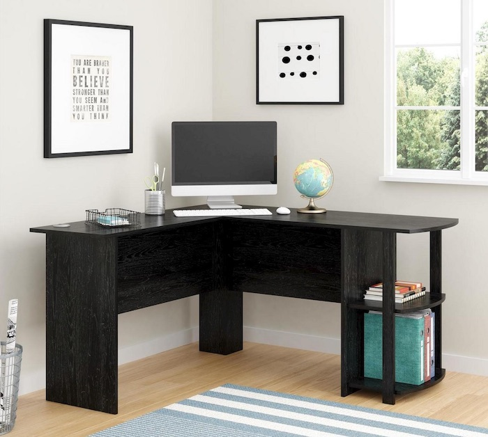 Small Bedroom Corner Table Outstanding L Shaped Desk - bedroom organization ideas