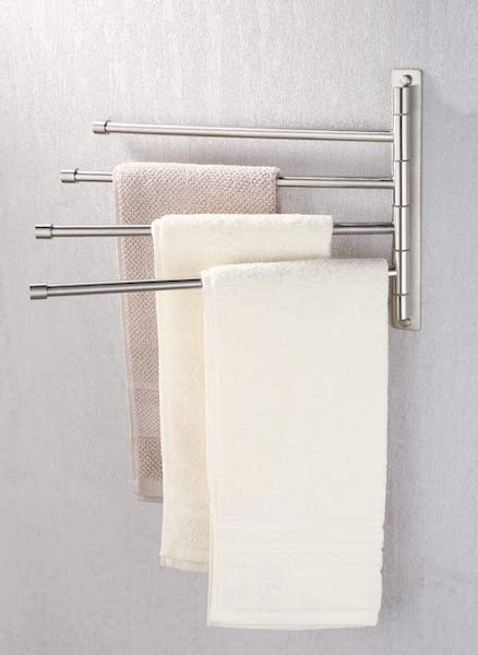 Swing Out Towel Rack - bathroom organization ideas
