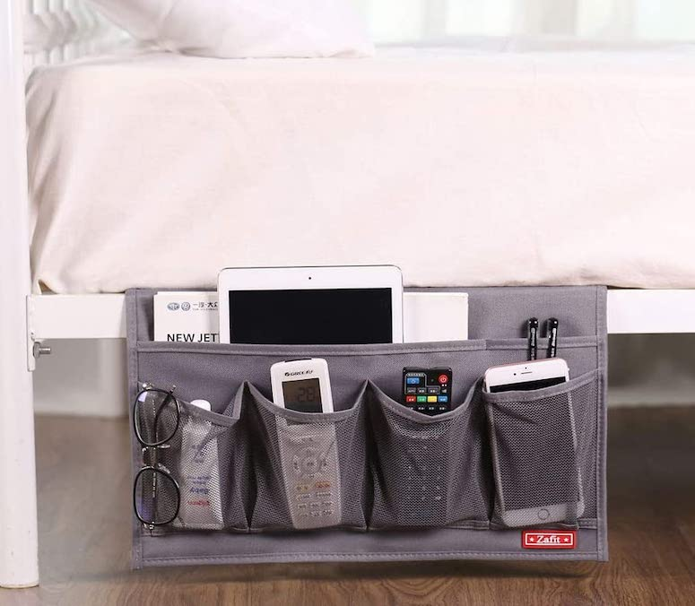 bedside organizer - bedroom organization ideas
