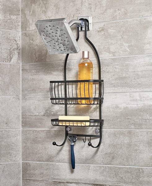 hanging shower caddy - bathroom organization ideas