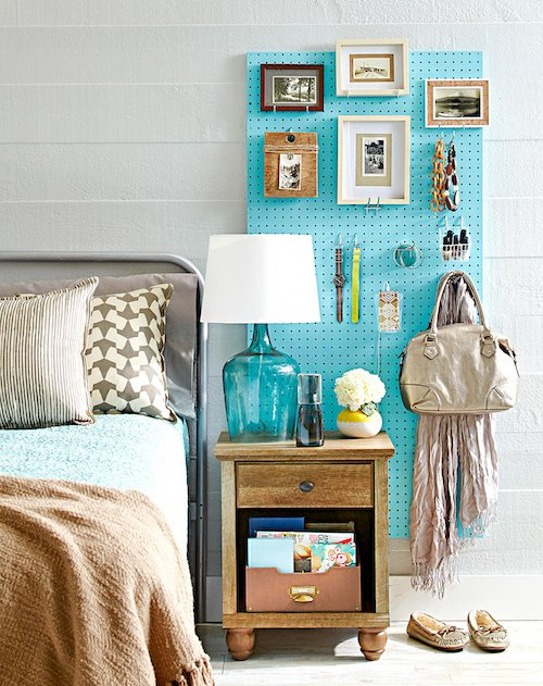 pegboard at bedside