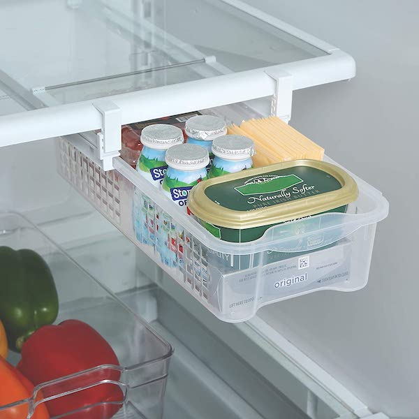 pull out bin in fridge - organize your kitchen