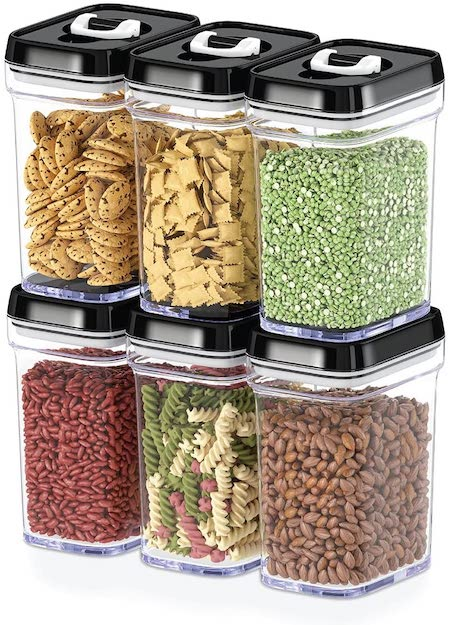 see-through containers - organize your kitchen