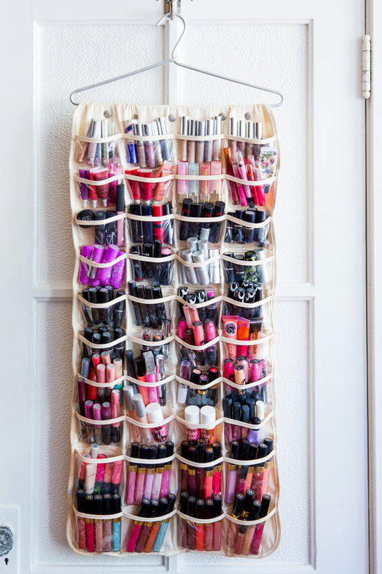 shoe organizer with makeup
