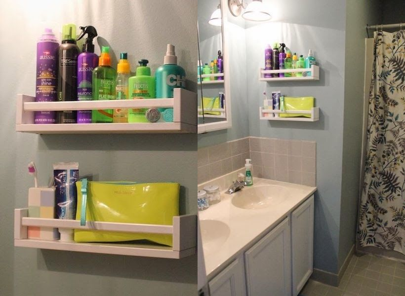 spice racks in bathroom - bathroom organization ideas