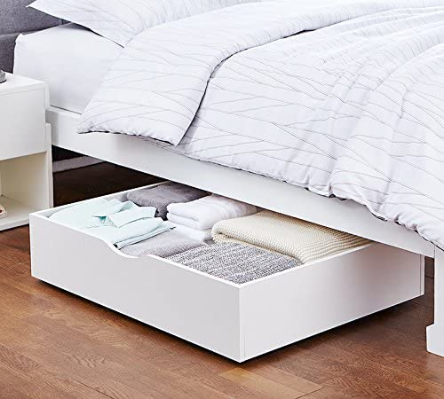 underbed organizer with wheels - bedroom organization ideas