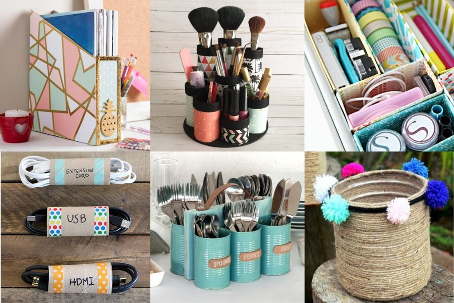 11 DIY Ideas To Organize With Recyclable Items