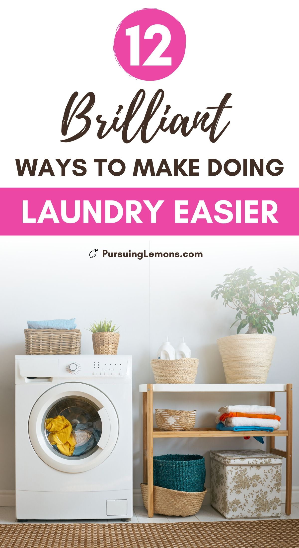 12 Laundry Room Hacks That Will Make Your Life So Much Easier | These laundry room ideas are going to make you love doing laundry again! With these laundry room tricks and laundry room organization ideas, doing laundry will be so much easier! #laundryhacks #laundryorganization
