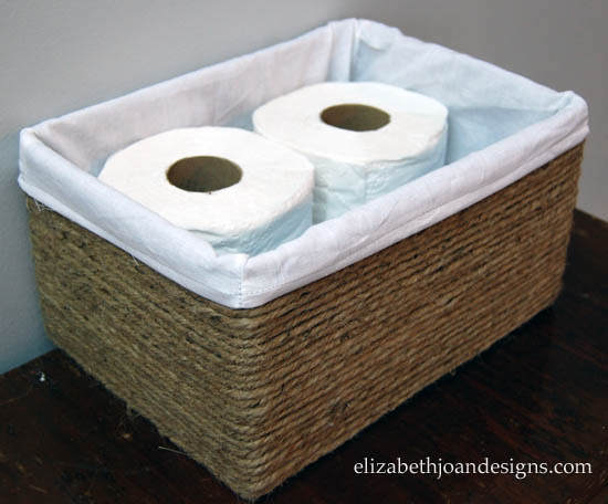 Boxes into Baskets - organize with recyclable items