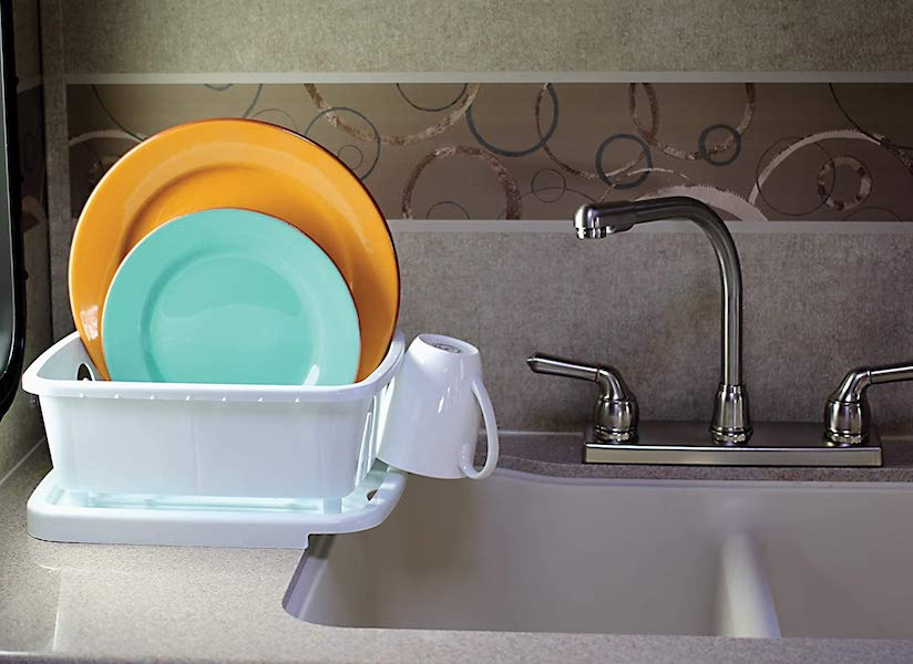 Dish Drainer Rack - organization ideas for your camper or RV