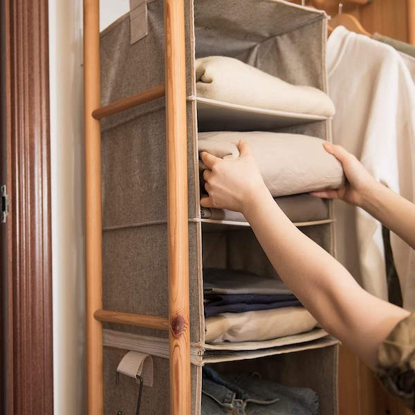 Hanging Closet Organizers - organization ideas for your camper or RV