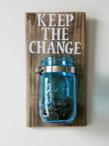 Keep the change jar - laundry room hacks