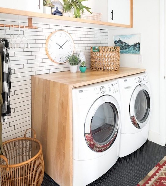 Laundry Room Folding Station - laundry room hacks