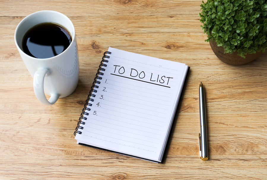 Make Daily To-Do List - habits of people with organized homes