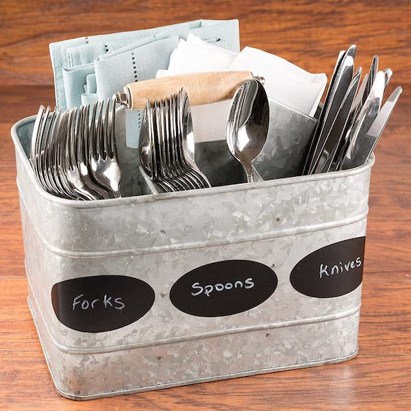 Organize Your Silverware In A Caddy - organization ideas for your camper or RV