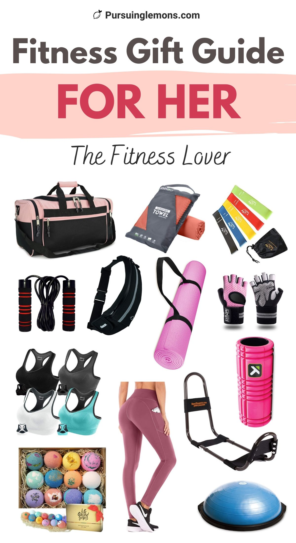 The Best List Of Fitness Gift Ideas For Her | This is an ultimate fitness gift guide for her. These are great fitness gift ideas for fitness lovers who love to workout. Find the best gift ideas for women, mother's day gift, anniversary gift, Christmas gift, or a birthday gift for your loved ones who like to exercise. If you're looking for the best fitness gift ideas for her, start with this list! #giftideasformom #fitgirlgiftideas #giftideasforher #giftideasforfitnesslovers #giftguideforher #giftideasfitnesswomen  #giftguideformom