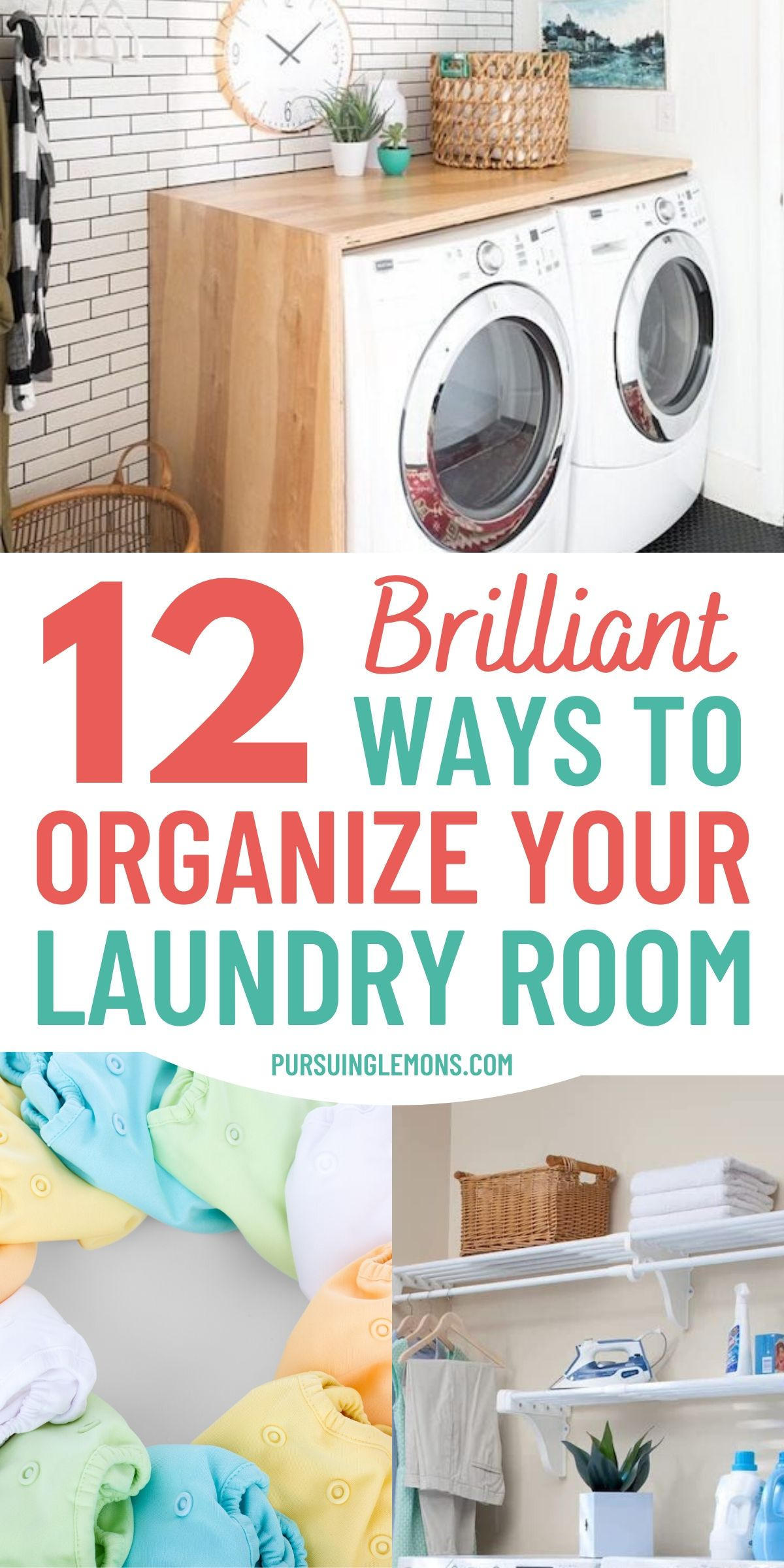 12 Laundry Room Hacks That Will Make Your Life So Much Easier | Need some organization ideas for your laundry room? Try these laundry room tricks and laundry room organization hacks today! #laundryhacks #laundryorganization #laundryroom #organization