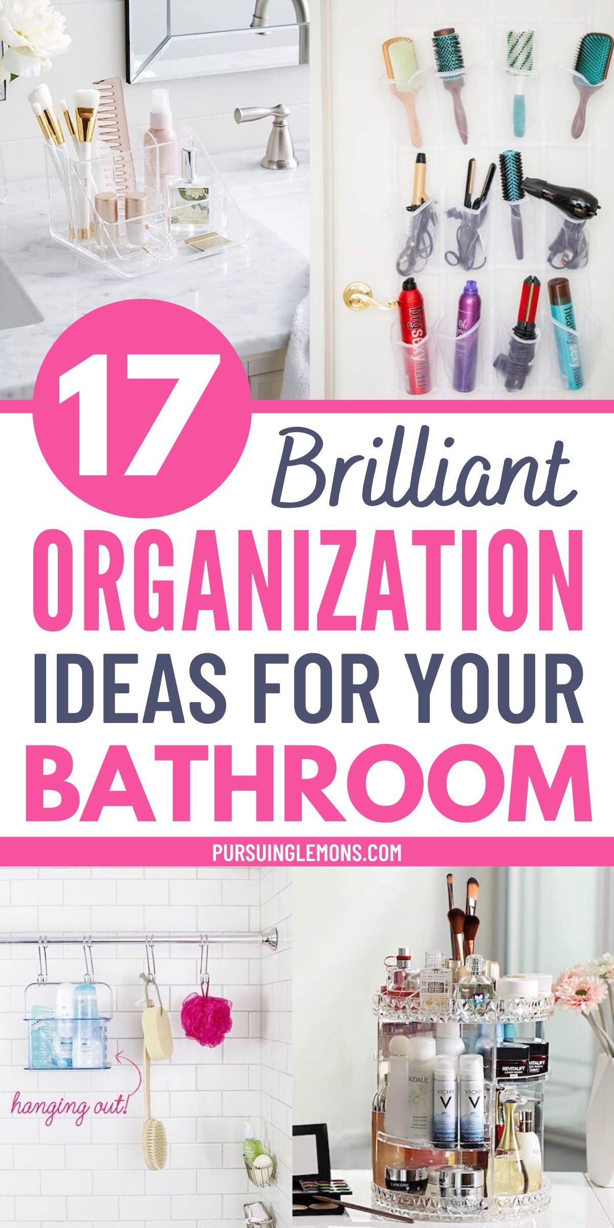 Keep your small bathroom organized with these bathroom organization hacks. Organizing your bathroom is very important and you can do it with these bathroom organizing ideas. If you want to get your bathroom tidy and clean, you can start with these bathroom organization ideas today! #bathroomideasdiy #organizingbathroom