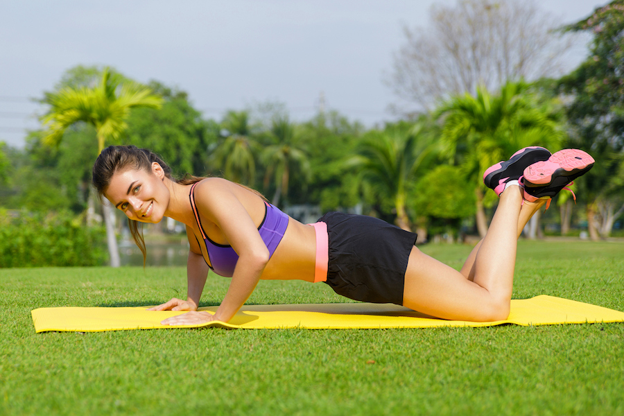Knee Push-Ups - strength training exercises for women over 50