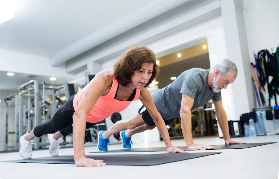 Push-Ups - strength training exercises for women over 50
