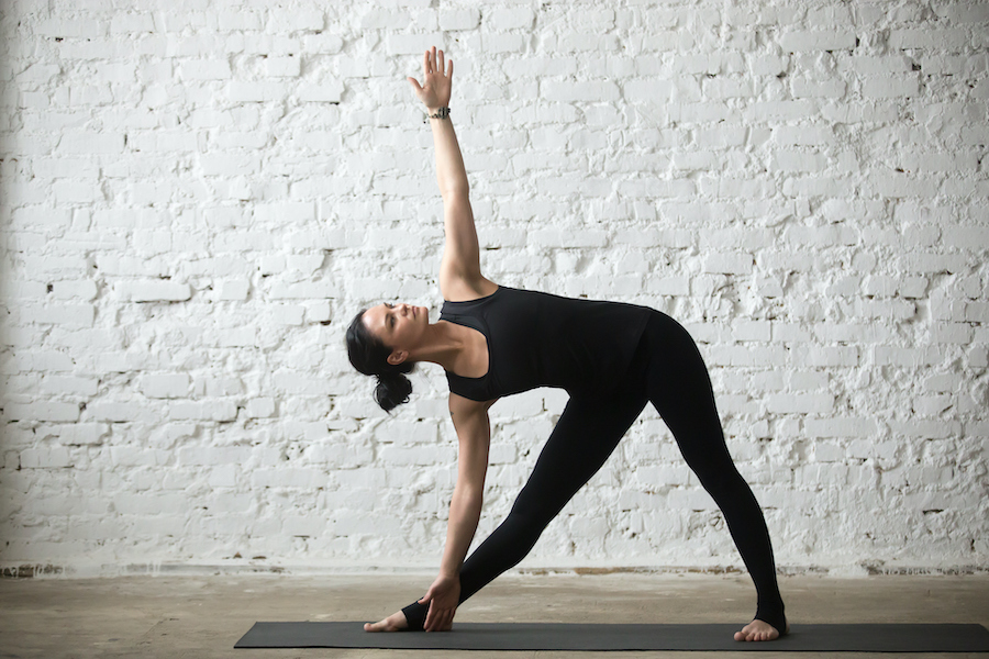 Extended Triangle Pose - How To Get Flexible At Age 40