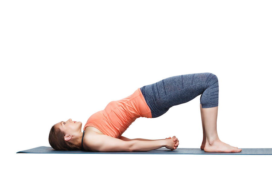 Bridge pose - yoga poses for muscle building