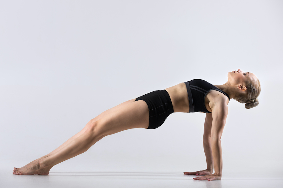 Reverse plank - yoga poses for muscle building