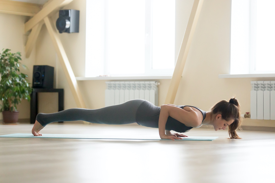 locust pose - yoga poses for muscle building